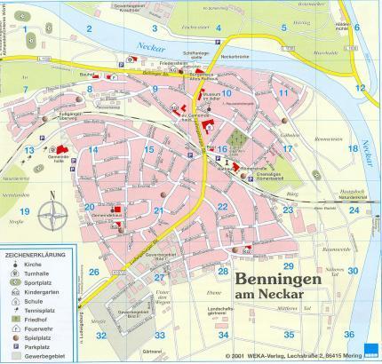 map of benningen