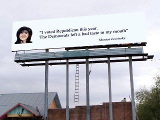 Monika Lewinsky sign